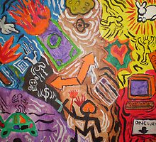 Chaos In Motion (A Keith Haring Tribute) by Lightningjack49