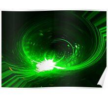 Green Print Poster