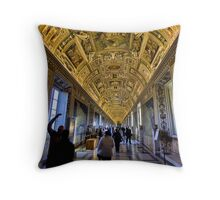 Hall of Maps - Vatican City Throw Pillow