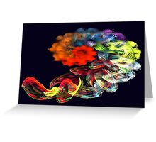 Apophysis Fractal 19 Greeting Card