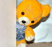 Fred Bear Thought He Heard Someone At The Door by missmoneypenny