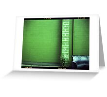 Blue Couch Green Wall Greeting Card
