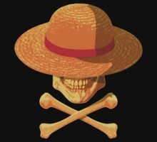 one piece skull realistic hat flag logo ワンピース luffy nami by KokoBlacksquare