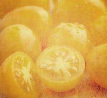 Still life of yellow plum tomatoes by Artmassage