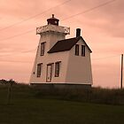 Little house at pink sunset - Prince Edward Island, Canada by Jessica Bawden