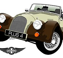 Morgan Plus Four two-tone brown by car2oonz