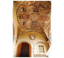 Painted Ceiling in Siena, Italy Poster