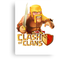 Clash of clans - Barbarian  Canvas Print