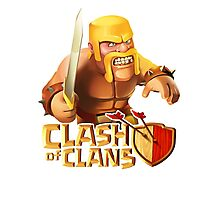Clash of clans - Barbarian  Photographic Print
