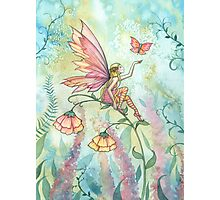Free Fairy and Butterfly Art Watercolor Illustration  Photographic Print