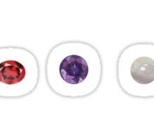Garnet, Amethyst, and Pearl  Sticker
