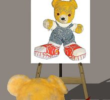 Fred Bear Studies His Self Portrait by missmoneypenny