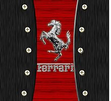 Ferrari ~ Wood Red & Silver by vdezine
