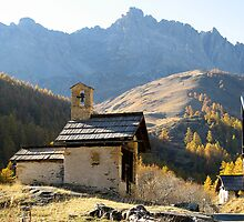 Chapel in the Alps by myvalleylil