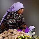 POTATO SELLERS - BHUTAN by Michael Sheridan