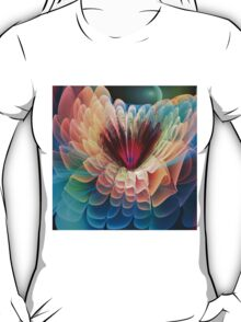 Moon flower, artistic fractal abstract T-Shirt