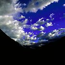 Dramatic blue skies with mountain silhouette taken in New Zealand by Aneurysm