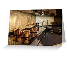 luxury  kitchen Greeting Card