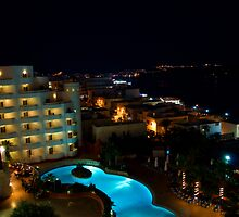 Malta Resort Night-time by Alison Cornford-Matheson