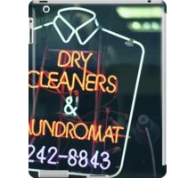 Dry cleaners and Laundromat Neon Sign in NYC iPad Case/Skin