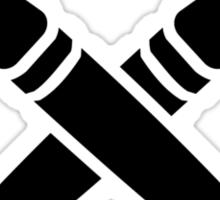 Crossed brushes Sticker