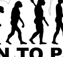 Evolution Born to paint Sticker