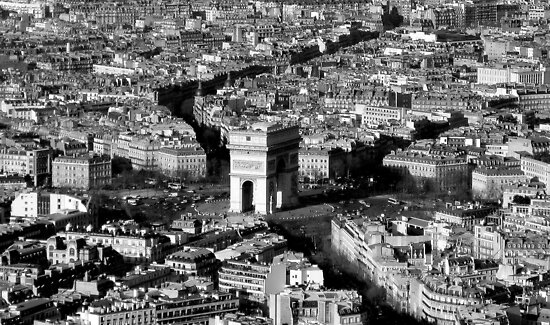 Arc de Triomphe and Surrounding Parisienne Cityscape by Honor Kyne