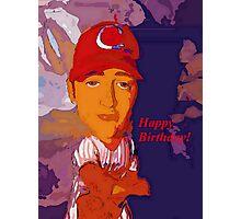 Baz-ze-ball birthday card Photographic Print
