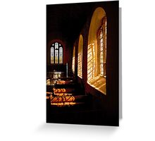 Windows and Shadows Greeting Card