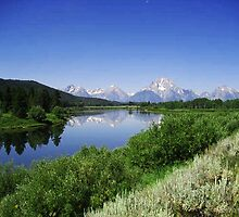 The Grand Tetons in the Grand Teton  NP Wyoming USA by Bellavista2