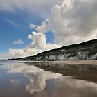 Clouds on the sand by Mark  Allen