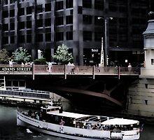 Adams Street Bridge Chicago by bloomingvine