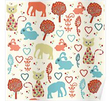Animals pattern  Poster