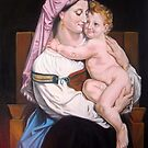 Woman of Cervara and Her Child after W. Bouguereau by Hidemi Tada