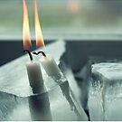 Frozen Lit Candles - Card Edition by Bjarte Edvardsen