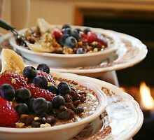 Oatmeal with Fruit and Walnuts by eelsblueEllen