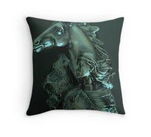 Horse Woman Throw Pillow