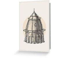 Steam punk rocket Greeting Card
