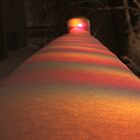 Snow on Christmas Lights by Ken Fortie