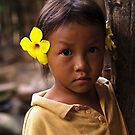 Hmong Flower Girl by Ed Stone