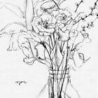 Flowers + you; illustration by Julia Major