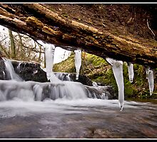 Icicle waterfall at Downham by Shaun Whiteman