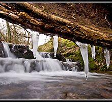 Icicle waterfall at Downham by Shaun Whiteman