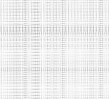 White double grid print by weirdoodle