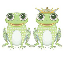 Frog and Crowned Frog Photographic Print
