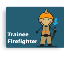 Trainee Firefighter Canvas Print