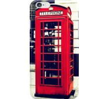 Red British Telephone Booth  iPhone Case/Skin