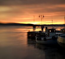 Sunset in the Harbour, Oslo by Matthew Walters