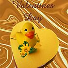 Yellow Ducky Valentine by CardLady