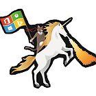 Ninja Cat Unicorn Full Flag by memeshe